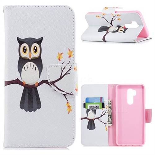 Owl on Tree Leather Wallet Case for LG G7 ThinQ