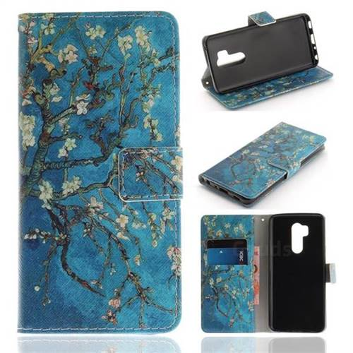 Apricot Tree PU Leather Wallet Case for LG G7 ThinQ