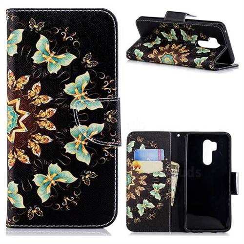 Circle Butterflies Leather Wallet Case for LG G7 ThinQ