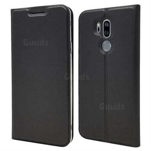 Ultra Slim Card Magnetic Automatic Suction Leather Wallet Case for LG G7 ThinQ - Star Grey