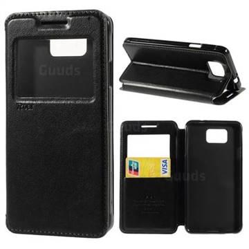 RoarKorea Noble View Flip Cover for Samsung Galaxy Alpha SM-G850F SM-G850A - Black