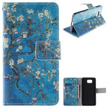 Apricot Tree PU Leather Wallet Case for Samsung Galaxy Alpha G850