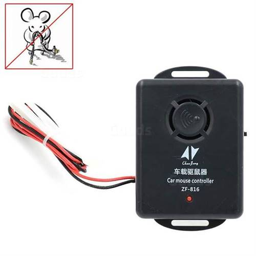 12V Ultrasonic Vehicle Car Mouse Rat Repeller Pest Mice Electronic Control Repellent Traps ZF-816