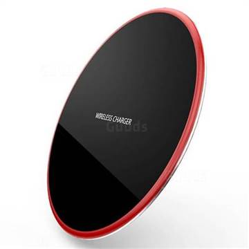 R-JUST Ultra-Thin Fast Charge Qi Wireless Charging Pad Red