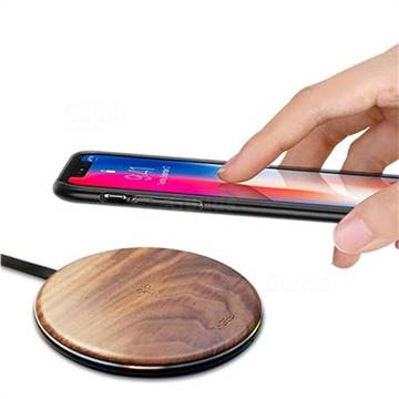 YOGEE YC005 Walnut Wood Pattern Universal 5W Wireless Charging Pad