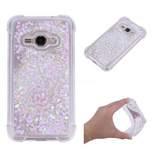 Dynamic Liquid Glitter Sand Quicksand Star TPU Case for Samsung Galaxy J1 2016 J120 - Pink