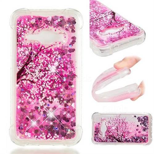 Pink Cherry Blossom Dynamic Liquid Glitter Sand Quicksand Star TPU Case for Samsung Galaxy J1 2016 J120