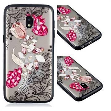 big sale 52063 099b4 Tulip Lace Diamond Flower Soft TPU Back Cover for Samsung Galaxy J2 Core