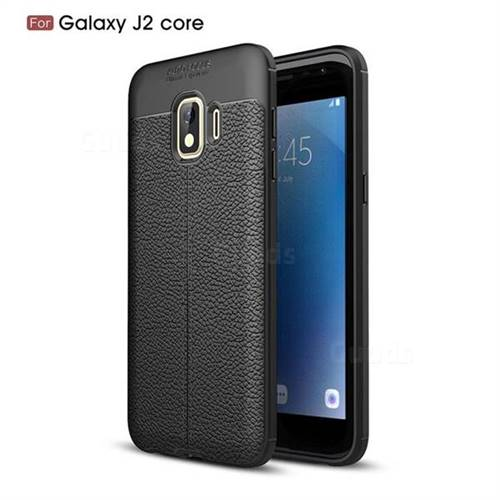 outlet store ea09a d41e1 Luxury Auto Focus Litchi Texture Silicone TPU Back Cover for Samsung Galaxy  J2 Core - Black - Galaxy J2 Core Cases - Guuds