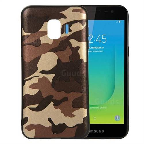 best website 82d07 ec068 Camouflage Soft TPU Back Cover for Samsung Galaxy J2 Core - Gold Coffee