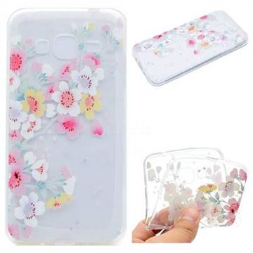 Peach Super Clear Soft TPU Back Cover for Samsung Galaxy J2 Prime G532