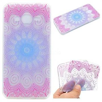 Colored Mandala Super Clear Soft TPU Back Cover for Samsung Galaxy J2 Prime G532