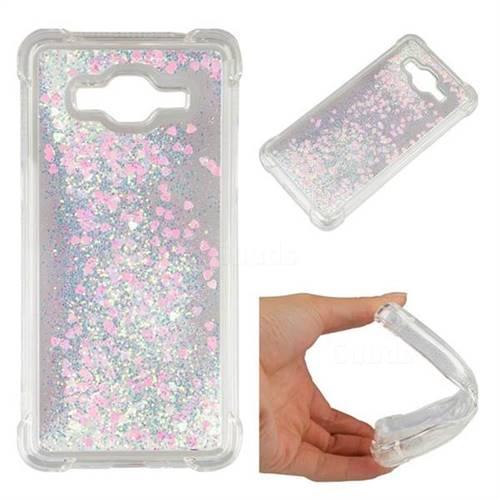 Dynamic Liquid Glitter Sand Quicksand Star TPU Case for Samsung Galaxy J2 Prime G532 - Pink