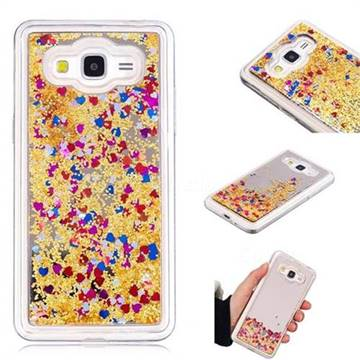Glitter Sand Mirror Quicksand Dynamic Liquid Star TPU Case for Samsung Galaxy J2 Prime G532 - Yellow