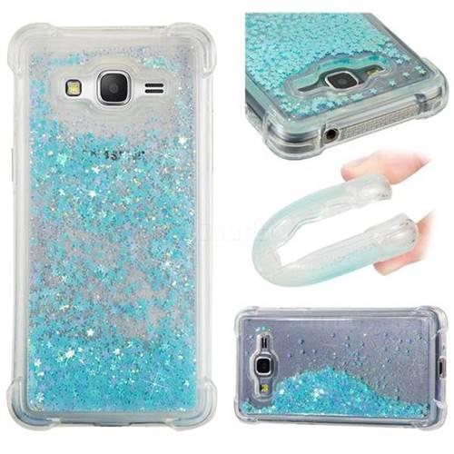 Dynamic Liquid Glitter Sand Quicksand TPU Case for Samsung Galaxy J2 Prime G532 - Silver Blue Star