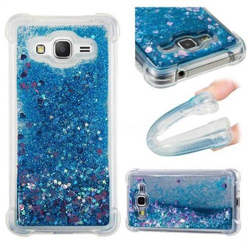 Dynamic Liquid Glitter Sand Quicksand TPU Case for Samsung Galaxy J2 Prime G532 - Blue Love Heart