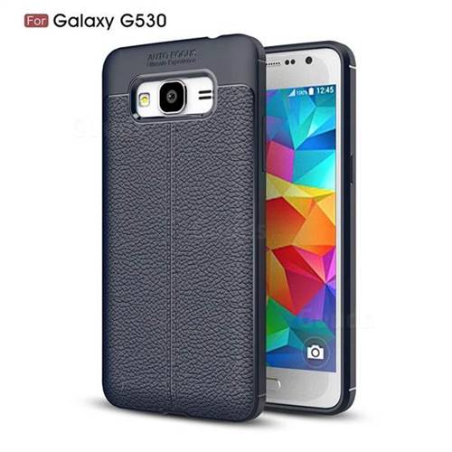 Luxury Auto Focus Litchi Texture Silicone TPU Back Cover for Samsung Galaxy J2 Prime G532 - Black