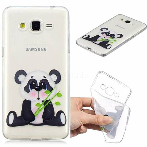 Bamboo Panda Clear Varnish Soft Phone Back Cover for Samsung Galaxy J2 Prime G532