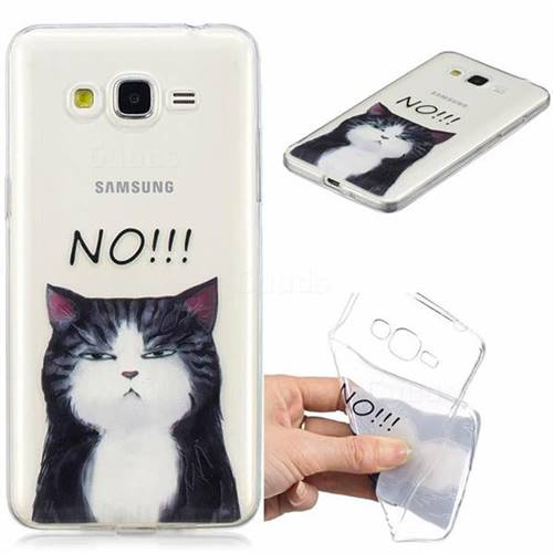 Cat Say No Clear Varnish Soft Phone Back Cover for Samsung Galaxy J2 Prime G532