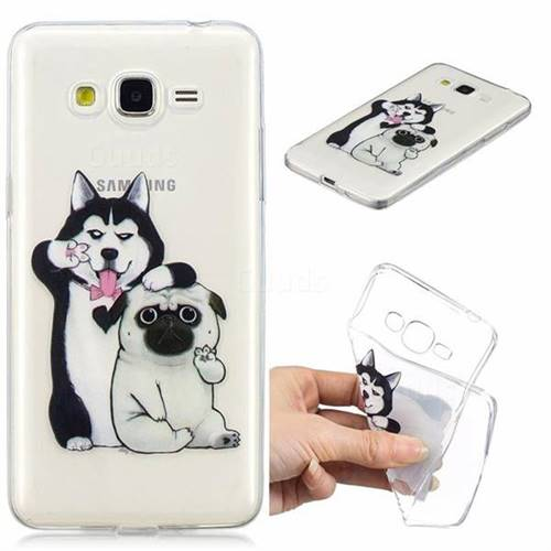 Selfie Dog Clear Varnish Soft Phone Back Cover for Samsung Galaxy J2 Prime G532
