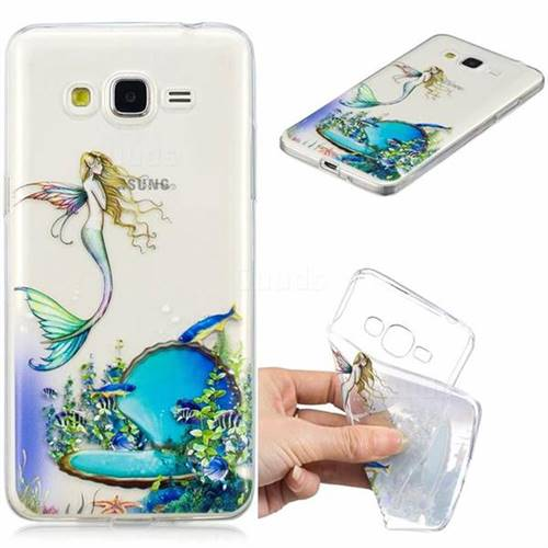 Mermaid Clear Varnish Soft Phone Back Cover for Samsung Galaxy J2 Prime G532