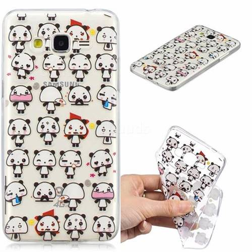 Mini Panda Clear Varnish Soft Phone Back Cover for Samsung Galaxy J2 Prime G532