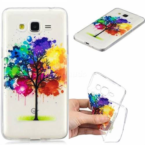Oil Painting Tree Clear Varnish Soft Phone Back Cover for Samsung Galaxy J2 Prime G532