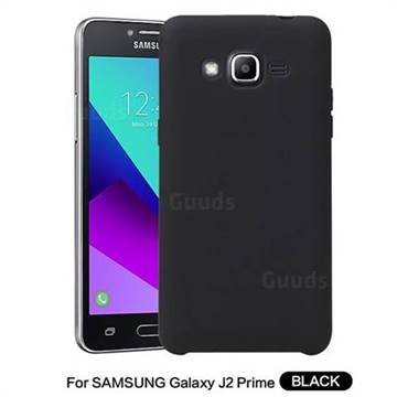 Howmak Slim Liquid Silicone Rubber Shockproof Phone Case Cover for Samsung Galaxy J2 Prime G532 - Black