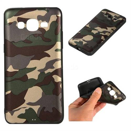 Camouflage Soft TPU Back Cover for Samsung Galaxy J2 Prime G532 - Gold Green