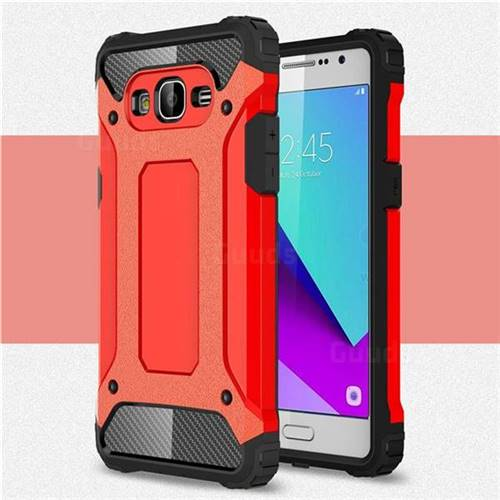 King Kong Armor Premium Shockproof Dual Layer Rugged Hard Cover for Samsung Galaxy J2 Prime G532 - Big Red