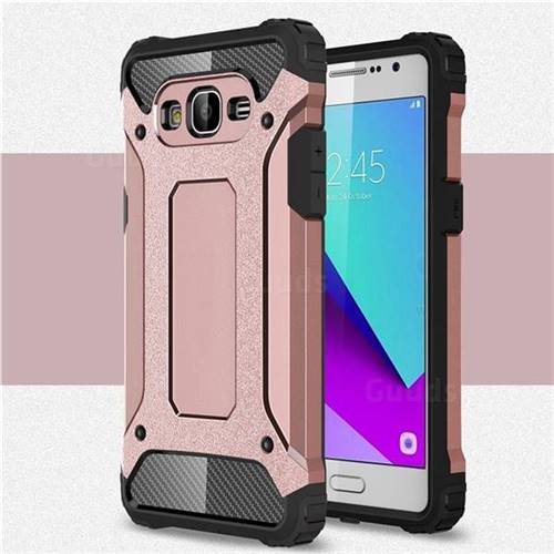 King Kong Armor Premium Shockproof Dual Layer Rugged Hard Cover for Samsung Galaxy J2 Prime G532 - Rose Gold