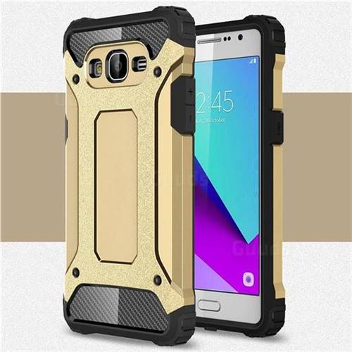 King Kong Armor Premium Shockproof Dual Layer Rugged Hard Cover for Samsung Galaxy J2 Prime G532 - Champagne Gold