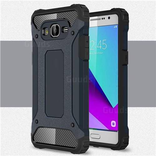 King Kong Armor Premium Shockproof Dual Layer Rugged Hard Cover for Samsung Galaxy J2 Prime G532 - Navy