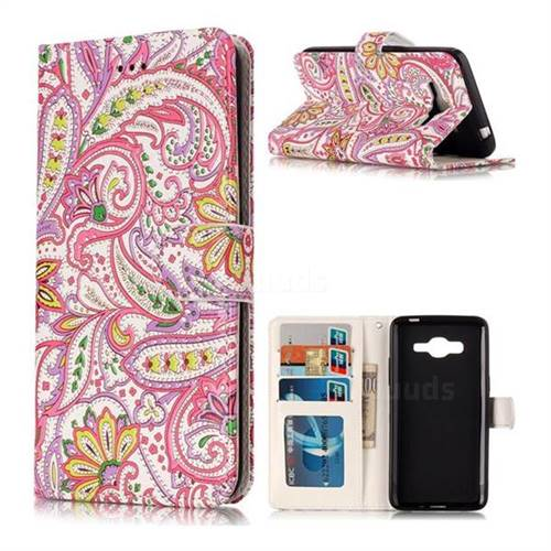 Pepper Flowers 3D Relief Oil PU Leather Wallet Case for Samsung Galaxy J2 Prime G532