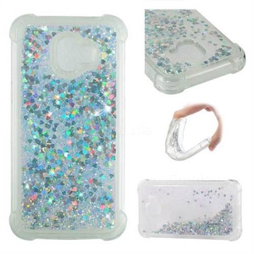Dynamic Liquid Glitter Sand Quicksand Star TPU Case for Samsung Galaxy J2 Pro (2018) - Silver