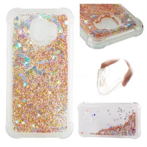 Dynamic Liquid Glitter Sand Quicksand Star TPU Case for Samsung Galaxy J2 Pro (2018) - Diamond Gold