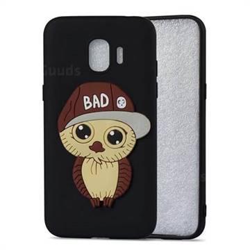 Bad Boy Owl Soft 3D Silicone Case for Samsung Galaxy J2 Pro (2018) - Black