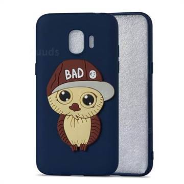 Bad Boy Owl Soft 3D Silicone Case for Samsung Galaxy J2 Pro (2018) - Navy