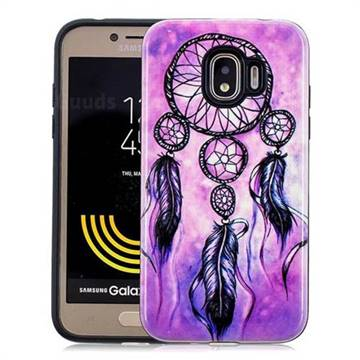 Starry Wind Chimes Pattern 2 in 1 PC + TPU Glossy Embossed Back Cover for Samsung Galaxy J2 Pro (2018)