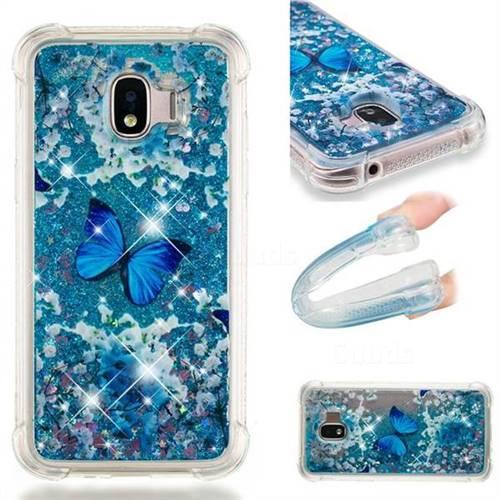 Flower Butterfly Dynamic Liquid Glitter Sand Quicksand Star TPU Case for Samsung Galaxy J2 Pro (2018)