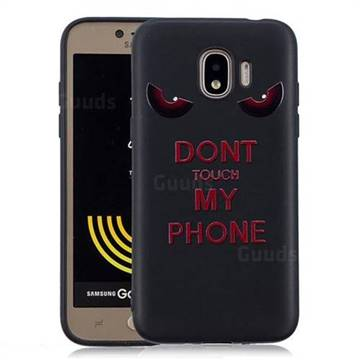 buy online 03508 b8169 Red Eyes 3D Embossed Relief Black Soft Back Cover for Samsung Galaxy J2 Pro  (2018)