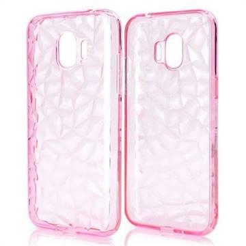 Diamond Pattern Shining Soft TPU Phone Back Cover for Samsung Galaxy J2 Pro (2018) - Pink