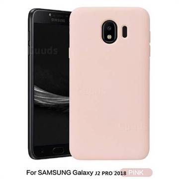 superior quality c8d93 0848b Howmak Slim Liquid Silicone Rubber Shockproof Phone Case Cover for Samsung  Galaxy J2 Pro (2018) - Pink