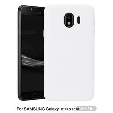 official photos a1c39 6c9e4 Howmak Slim Liquid Silicone Rubber Shockproof Phone Case Cover for Samsung  Galaxy J2 Pro (2018) - White