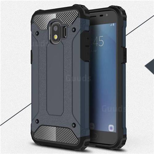 King Kong Armor Premium Shockproof Dual Layer Rugged Hard Cover for Samsung Galaxy J2 Pro (2018) - Navy