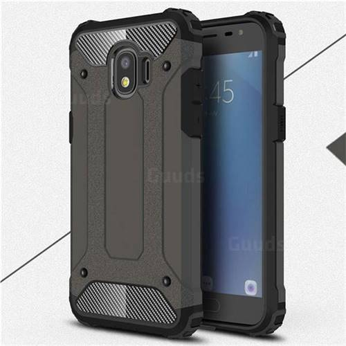 King Kong Armor Premium Shockproof Dual Layer Rugged Hard Cover for Samsung Galaxy J2 Pro (2018) - Bronze