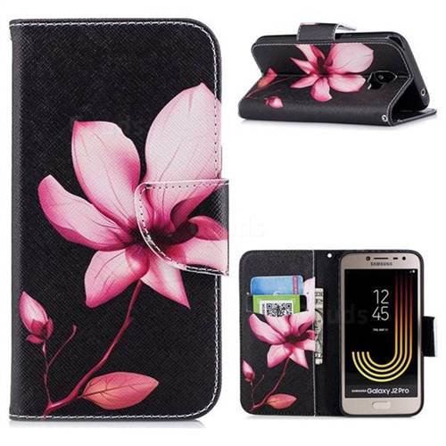 Lotus Flower Leather Wallet Case for Samsung Galaxy J2 Pro (2018)