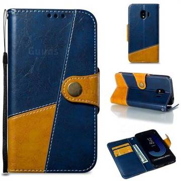 Retro Magnetic Stitching Wallet Flip Cover for Samsung Galaxy J2 Pro (2018) - Blue