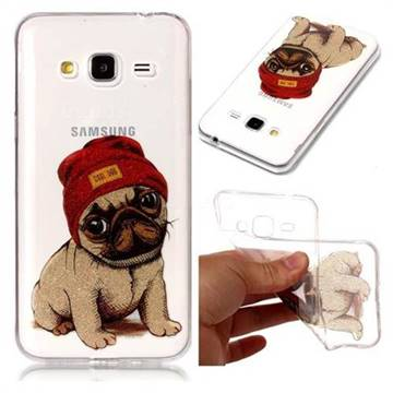 Pugs Dog Super Clear Flash Powder Shiny Soft TPU Back Cover for Samsung  Galaxy J3 2016 J320