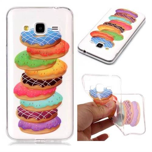 Melaleuca Donuts Super Clear Soft TPU Back Cover for Samsung Galaxy J3 2016 J320